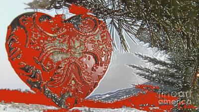 Solid Love Heart Made Of Metal Art Print