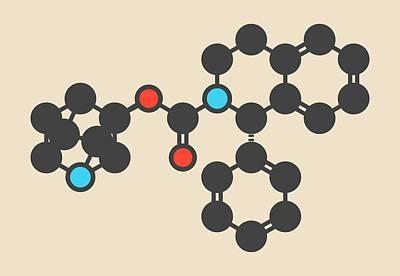 Solifenacin Molecule Art Print by Molekuul