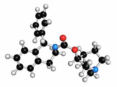 Atomic Image Photograph - Solifenacin Overactive Bladder Drug by Molekuul