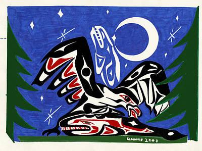 Native American Thunderbird Art Photograph - Solistice Dinner by Micah McCarty  Makah tribe