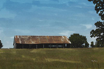 Photograph - Solitary Barn by Barry Jones