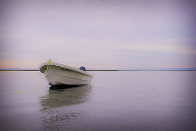 Surreal Landscape Photograph - Solitary Boat by Adam Romanowicz