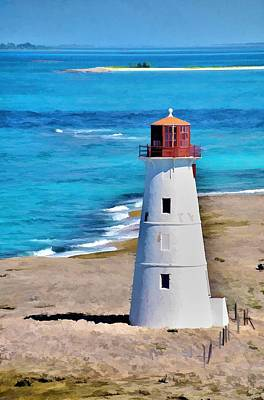 Art Print featuring the photograph Solitary Lighthouse by Pamela Blizzard