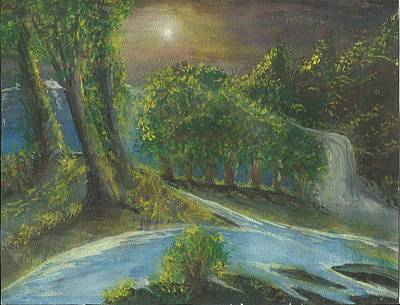 Art Print featuring the painting Solitary Midnight by Douglas Beatenhead