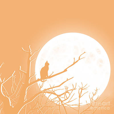 Digital Art - Solitary Orange Background by Methune Hively