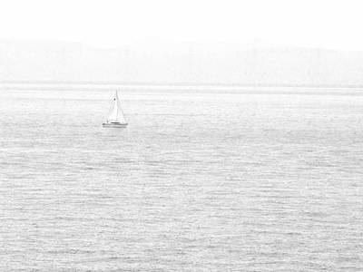 Photograph - Solitary Sailboat Lake Tahoe by Frank Wilson
