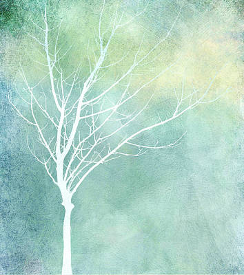 Digital Art - Solitary Winter Tree  by Ann Powell