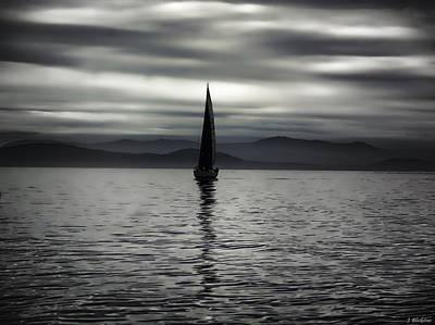 Painting - Solitude And Silence - Inspirational Art by Jordan Blackstone