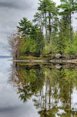 Rights Managed Images Photograph - Solitude At Pinheys Point Ontario by Rob Huntley
