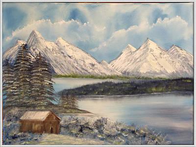 Solitude At The Lake Art Print by Joyce Krenson