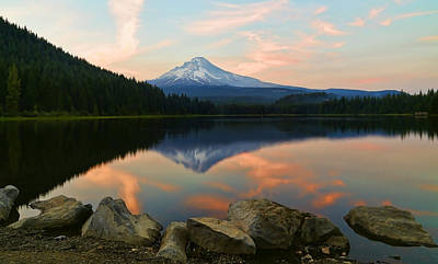 Photograph - Solitude At Trillium Lake by Athena Mckinzie