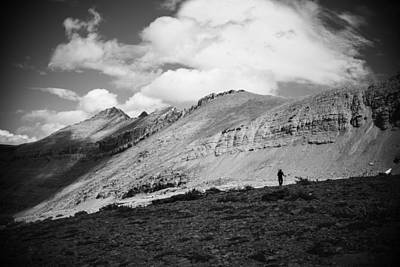 Photograph - Solitude Below Sperry Glacier by Alex Blondeau