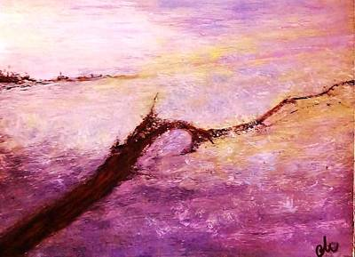 Art Print featuring the painting Solitude by Cristina Mihailescu