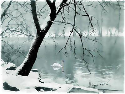 Snow Digital Art - Solitude by Jessica Jenney