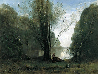 Solitude. Recollection Of Vigen Limousin Art Print by Jean-Baptiste-Camille Corot