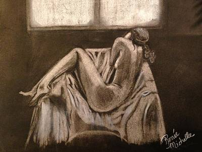 Drawing - Solitude by Renee Michelle Wenker