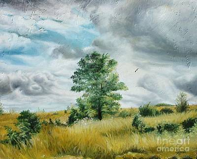 Art Print featuring the painting Solitude by Sorin Apostolescu