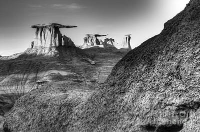 Photograph - Solitude Speaks In The Bisti De-na-zin Wilderness by Bob Christopher