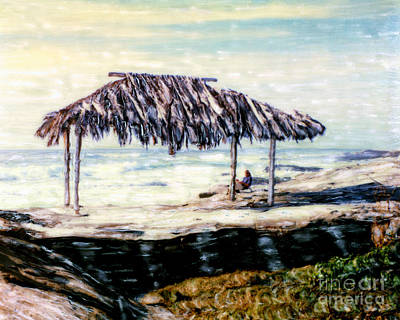 Photograph - Solitude - Windansea Palapa by Glenn McNary