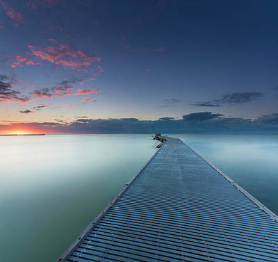Piers Wall Art - Photograph - Solitude3 by Alexandru Popovski