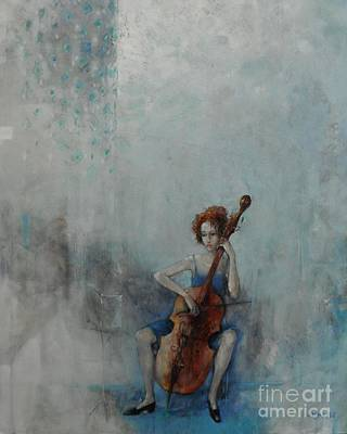 Blue Painting - Solo Celloist by Grigor Malinov