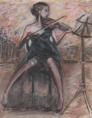 Art Print featuring the painting Solo Concerto by Jarmo Korhonen aka Jarko