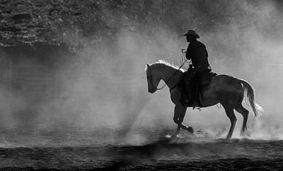 Cowboys Photograph - Solo Cowboy by John Covin