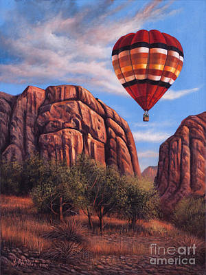 Hot Air Painting - Solo Crossing by Ricardo Chavez-Mendez
