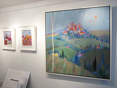 Solo Exhibition Painting - Solo Exhibition In York by Giuliana Lazzerini