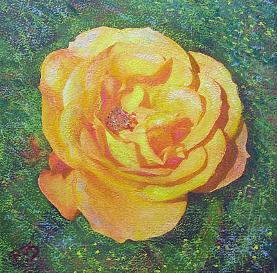 Painting - Solo Orange Rose by Richard James Digance