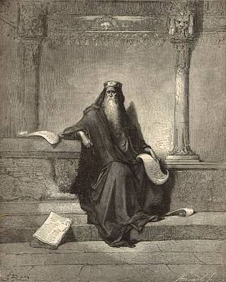 Scriptural Drawing - Solomon by Antique Engravings