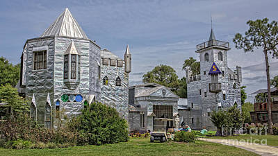 Roadside America Photograph - Solomon's Castle Ona Florida by Edward Fielding