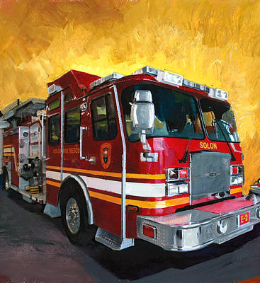 Solon Fire Engine Art Print