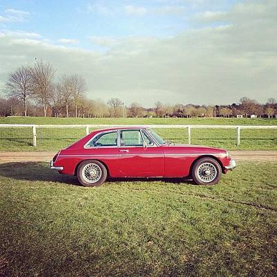 Warwickshire Photograph - #soloparking #mgb #classiccar #car by Robyn Chell