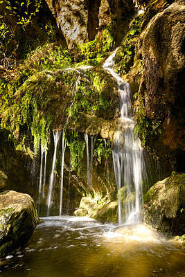 Photograph - Solstice Canyon Waterfall After A Heavy Winter Storm by Joe Doherty