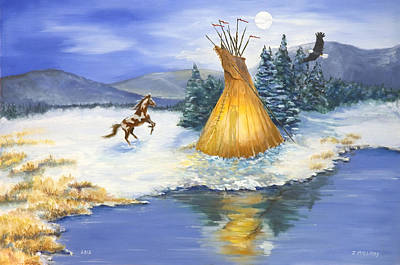 American Eagle Painting - Solstice by Jerry McElroy
