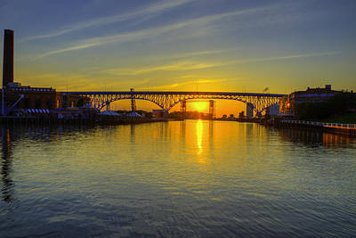 Photograph - Solstice On The Cuyahoga River by Richard Kopchock