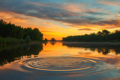 Sunrise Greetings Photograph - Solstice Ripples by Darren  White