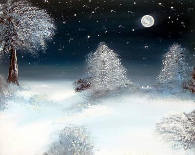 Solstice Snowfall I Art Print