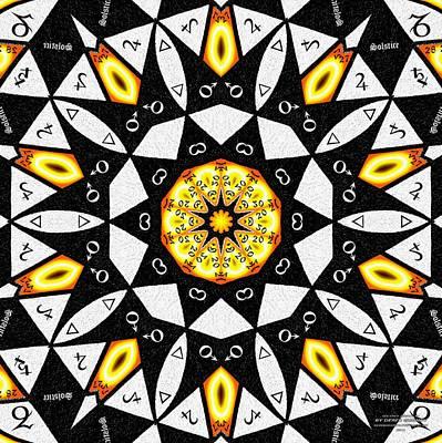 Drawing - Solstice Zodiac K1 by Derek Gedney