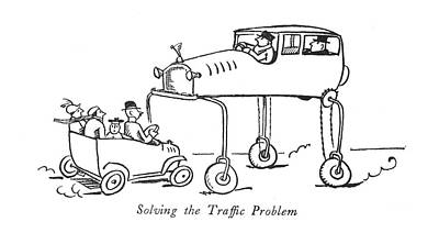 Solving The Traf?c Problem Art Print by Alfred Frueh