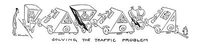 Solving The Traffic Problem Art Print by Alfred Frueh
