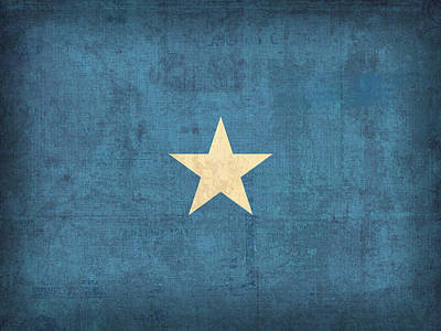 Somalia Mixed Media - Somalia Flag Vintage Distressed Finish by Design Turnpike