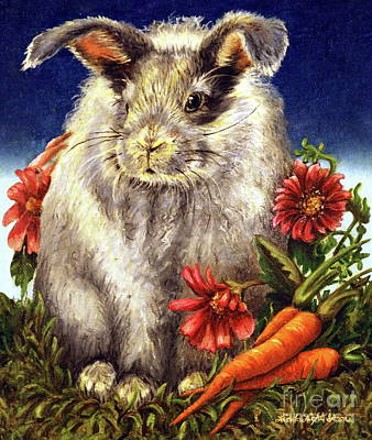 Peter Rabbit Painting - Some Bunny Is A Fuzzy Wuzzy by Linda Simon