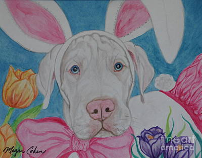 Dog Painting - Some Bunny Says Spring Has Sprung by Megan Cohen