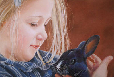Wall Art - Painting - Some Bunny To Love by Nancy Delgado