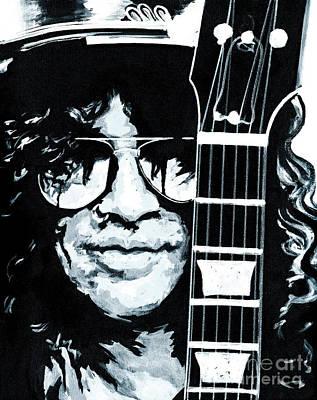 Some Cool Guitar Player- Slash Art Print by Tanya Filichkin