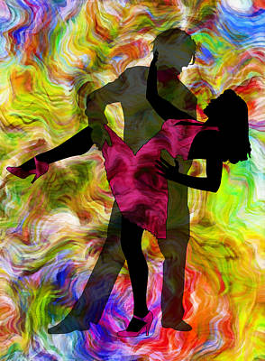 Passion Mixed Media - Some Like It Hot 1 Part 2 by Angelina Vick