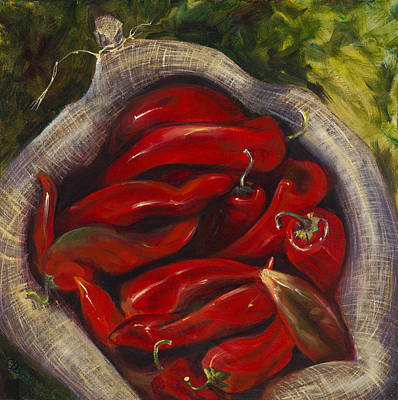 Chimayo Nm Painting - Some Like It Hot by Carolyn D Barela