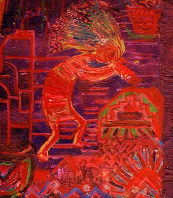 Some Like Kokopelli Hot Art Print by Anne-Elizabeth Whiteway